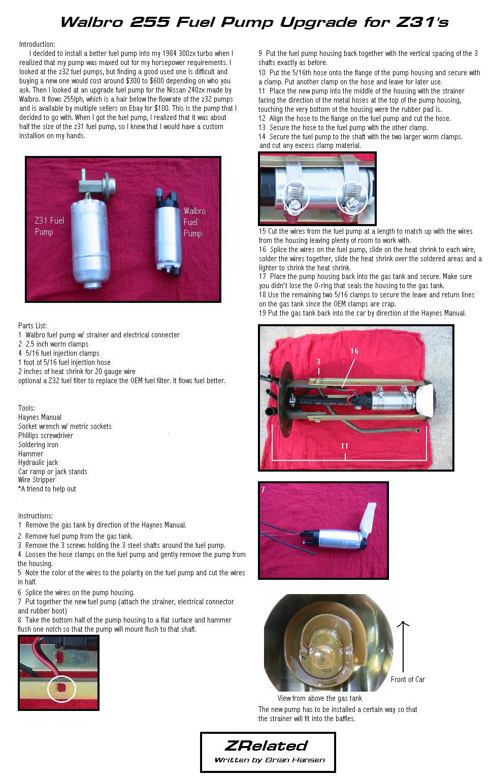 if you are lost, follow your haynes manual for installation instructions   the fuel filter  changing